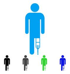 patient man flat icon vector image