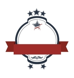 Patriotic usa related emblem image vector