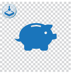 Piggy bank icon for web and mobile vector
