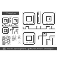 Qr code line icon vector