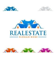 Real estate logo design realty logo vector