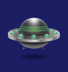 Realistic detailed 3d ufo flying spaceship vector