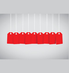 Red tag set vector