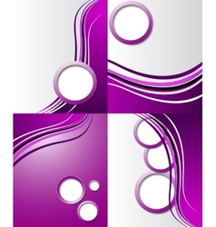 Set of elegant abstract purple background with for vector image