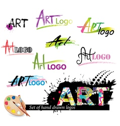 Set of logos vector image
