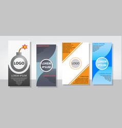 Set of posters flyers pamphlet brochure cover vector