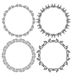 Set of round frames on a white background vector