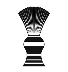 Shaving brush black simple icon vector image