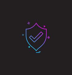 sheild protected icon design vector image