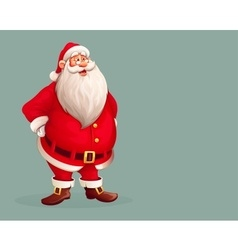 Smiling Santa Claus standing vector image