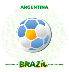 Soccer ball in the colors of the national flag vector