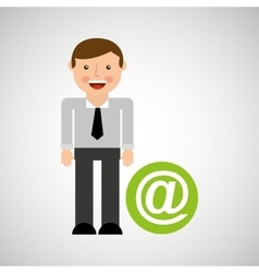 Social media man concept mail vector