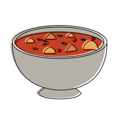 Soup delicious food vector