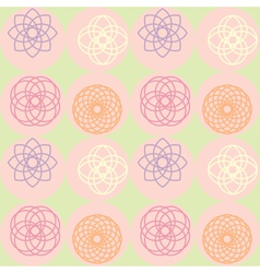 Spirograph on dot pattern vector