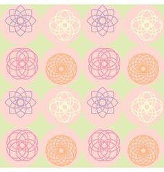 spirograph on dot pattern vector image
