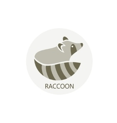 stylized silhouette a raccoon vector image