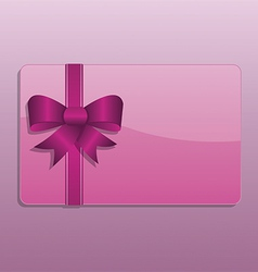 Valentines day giftcard vector image