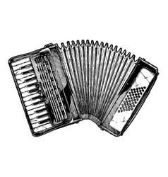Vintage of piano accordion vector