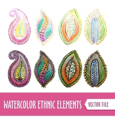 Watercolors Ethnic elements vector