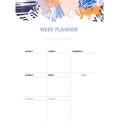 Weekly planner design vector