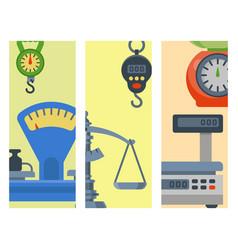 Weight measurement instrumentation brochure vector