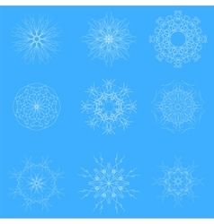 White Snow Flakes vector