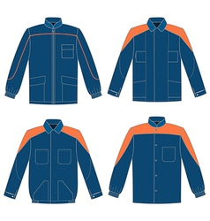 Workwear jacket vector