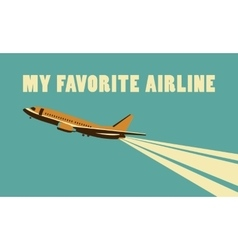Airlines retro poster vector image vector image