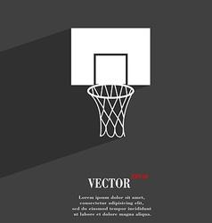Basketball backboard symbol Flat modern web design vector image vector image