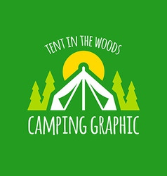 Camping tent graphic vector image