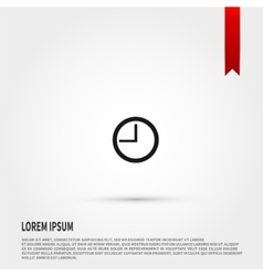 Clock icon Flat design style Template for design vector image vector image