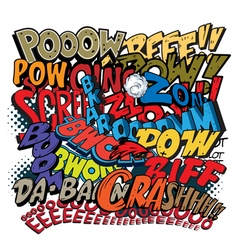 Comic book words explosions vector image