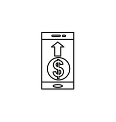mobile pay icon vector image