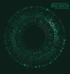 big data circular green vector image