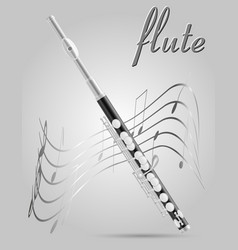 flute wind musical instruments stock vector image vector image