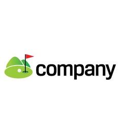 green golf field logo vector image