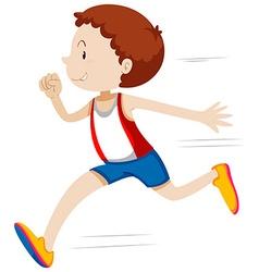 Man running in race vector image