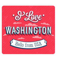 vintage greeting card from washington vector image vector image