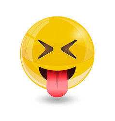 yellow smiley emoticons emoji vector image vector image