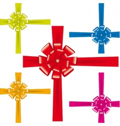 a collection of colorful ribbons vector image vector image