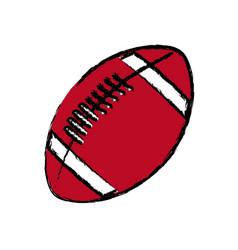 american footbal ball sport equipment vector image