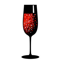 champagne red black glass vector image vector image