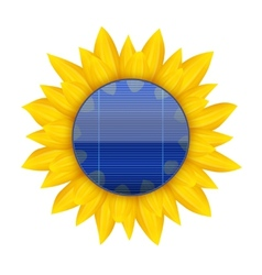 Concept of blue electric solar panel with vector