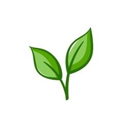 Eco Icon Green leaves vector image