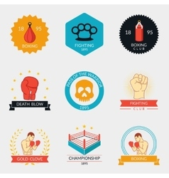 Martial arts labels and badges vector image vector image