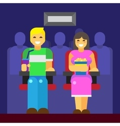 People at cinema icon vector image