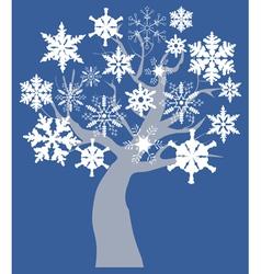 Snow tree vector