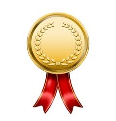 Award Medal Rosette Label vector image vector image