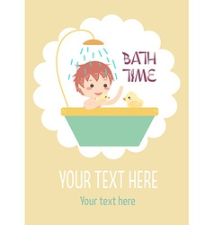 boy bath with ducks vector image vector image