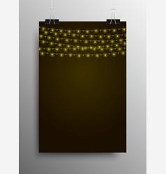 Bright yellow bulbs new year merry christmas vector